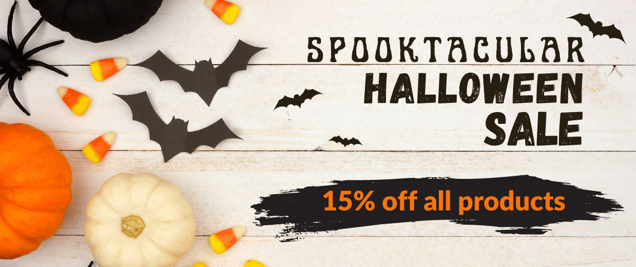 Halloween sale 15% off all pies